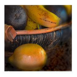 """""""Old Fruit, Archival Ink-Jet"""" - A basket of ripe fruit"""