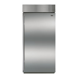 "36"" Built-In All Refrigerator Stainless Steel with Tubular Handle 