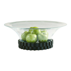 Baker Furniture - Gear Bowl - The bronze gear base of our Gear Bowl is textured and contemporary. The use of this industrial design element is elegant, masculine and fresh.