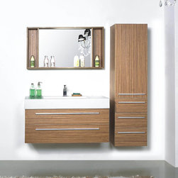 """Salvarolo Modern Bathroom Vanity 39.2"""" - The Salvarolo is a modern bathroom vanity set that embraces the latest trend in luxury modern bathroom design by choosing to incorporate sophisticated designs and shapes into every bathroom."""