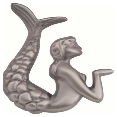 "Atlas Homewares - Atlas 190L-P Sea 2 1/2"" Left-Handed Mermaid Design Door Knob Pewter - Atlas 190L-P Sea 2 1/2"" Left-Handed Mermaid Design Door Knob Pewter"