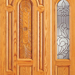 "Prehung Mahogany Arch Lite Front One Side light Door - SKU#    525-CP-1-1-GBrand    AAWDoor Type    ExteriorManufacturer Collection    Unique Entry DoorsDoor Model    Door Material    WoodWoodgrain    MahoganyVeneer    Price    1894Door Size Options    [30""+12"" x 80""] (3'-6"" x 6'-8"")  $0[30""+18"" x 80""] (4'-0"" x 6'-8"")  $0[32""+12"" x 80""] (3'-8"" x 6'-8"")  $0[32""+18"" x 80""] (4'-2"" x 6'-8"")  $0[36""+12"" x 80""] (4'-0"" x 6'-8"")  +$10[36""+18"" x 80""] (4'-6"" x 6'-8"")  +$10[42""+12"" x 80""] (4'-6"" x 6'-8"")  +$170[42""+18"" x 80""] (5'-0"" x 6'-8"")  +$170[30""+18"" x 84""] (4'-0"" x 7'-0"")  +$192[36""+18"" x 84""] (4'-6"" x 7'-0"")  +$212[42""+18"" x 84""] (5'-0"" x 7'-0"")  +$432[30""+12"" x 96""] (3'-6"" x 8'-0"")  +$412[30""+18"" x 96""] (4'-0"" x 8'-0"")  +$412[32""+12"" x 96""] (3'-8"" x 8'-0"")  +$412[32""+18"" x 96""] (4'-2"" x 8'-0"")  +$412[36""+12"" x 96""] (4'-0"" x 8'-0"")  +$432[36""+18"" x 96""] (4'-6"" x 8'-0"")  +$432[42""+12"" x 96""] (4'-6"" x 8'-0"")  +$792  $Core Type    SolidDoor Style    TraditionalDoor Lite Style    Arch LiteDoor Panel Style    Hand Carved Panel , 8 Panel , Raised MouldingHome Style Matching    Colonial , Plantation , VictorianDoor Construction    Engineered Stiles and RailsPrehanging Options    PrehungPrehung Configuration    Door with One SideliteDoor Thickness (Inches)    1.75Glass Thickness (Inches)    3/4Glass Type    Triple GlazedGlass Caming    BlackGlass Features    Insulated , TemperedGlass Style    Glass Texture    Glue ChipGlass Obscurity    Moderate ObscurityDoor Features    Door Approvals    FSCDoor Finishes    Door Accessories    Weight (lbs)    510Crating Size    25"" (w)x 108"" (l)x 52"" (h)Lead Time    Slab Doors: 7 daysPrehung:14 daysPrefinished, PreHung:21 daysWarranty    1 Year Limited Manufacturer WarrantyHere you can download warranty PDF document."