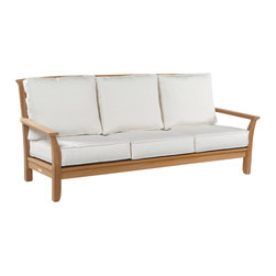 Mandalay Sofa - By Kingsley Bate - The roomy sofa combines the comfort of indoor seating with the durability of all-weather teak. It reflects a Japanese influence that's sure to enhance almost any garden setting.