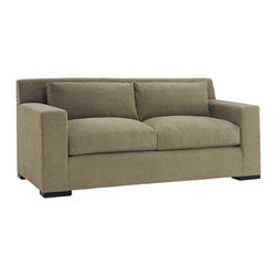 Lazar Industries - Corvo Loveseat in Woolco Taupe - Corvo Loveseat by Lazar Industries offers exceptional style and comfort with track arms and exquisite tailoring.