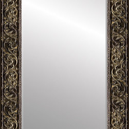 """Roma Moulding - Mirror, Palladio, 3 7/8"""", Primitive Silver - Our Palladio collection boasts beautifully carved motifs that are hand finished by skilled Italian artisans. More than ten layers of colorant, hand-applied leafing, patinas and wax are applied to achieve the desired finish of this highly architectural moulding."""