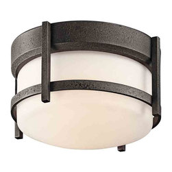 Kichler Lighting - Kichler Lighting 49125AVI Camden Anvil Iron Outdoor Flush Mount - 1, 75W Medium