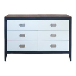 Newport Cottages - Devon 6-Drawer Dresser - Here's proof positive that a dresser can add simple sophistication to any bedroom. With its six roomy drawers, nicely contrasting colors and clean Shaker style, it fits in perfectly with any setting including the kids' rooms.