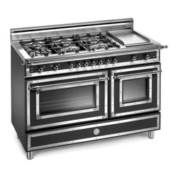 "Bertazzoni Heritage 48-Inch Pro Gas Range with 6 Burners and Griddle - I just love the look of this 48"" Bertazzoni range. It doesn't have quite the power of commercial style ranges, but it certainly sets the tone for a room. This company also makes more modern style ranges - so check it out if the Heritage isn't your thing."