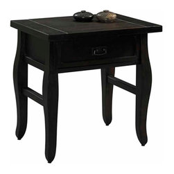"Linon - Tahoe End Table - Dimensions: 24.02""L x 17.99""W x 24.02""H"