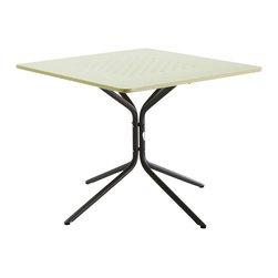 "Les Jardins - Fling bistro table, 35"" X 35"" - Fling square dining table/ Steel/ Light Green 35"" x 35"" x 60"""