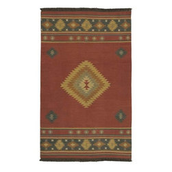 Surya Rugs - Jewel Tone Red Clay Rectangular: 5 Ft. x 8 Ft. Rug - -Constructed of 100% wool.  -Reversible.  Surya Rugs - JT-1033-58