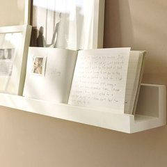 modern wall shelves by Pottery Barn
