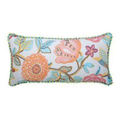 """New Elaine Smith Pillows - Kaleidoscope Floral Chic - 12"""" x 24"""" Elaine Smith Pillows"""