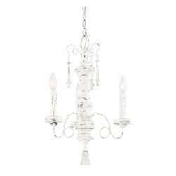 Minka-Lavery - Minka-Lavery Accents Provence 3-Light Chandelier - This 3-Light Up Mini Chandelier has a White finish and is part of the Accents Provence collection.
