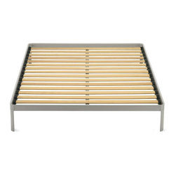 Min Bed - Good design isn't always in the details — sometimes it's a lack of detail that makes a product truly amazing. The Min bed was designed by Luciano Bertoncini, and is made of the highest quality materials for both comfort and durability. This is a bed that's truly made to last.