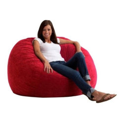 "Comfort Research - ""Comfort Research 4' Large Fuf in Comfort Suede, Sierra Red"" - ""This is the chair that brought bean bags out of the 1970s and into the bedrooms and dorm rooms all over the world. The first one to use patented memory foam, the Fuf is one-of-a-kind. Spend five minutes on a Fuf and your body will thank you for it.Dimensions (W x L x H): 48"""" x 48"""" x 34""""Filled with super soft and long lasting fuf foam re-fuf again and again for custom comfortCovered in soft, durable fabricGreat for basements, bedrooms, dorm rooms, or even the family roomPlace it on its side for more of a lounge position or upright for more back supportAvailable in assorted sizes and colors"""