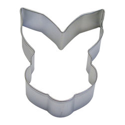 RM - Bunny Face 3.5 In. B0966 - Bunny Face cookie cutter, made of sturdy tin, Size 3.5 in., Depth 7/8 in., Color silver