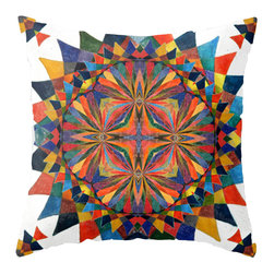 "Designed by Studio Smithson - ART Pillow Cover by Studio Smithson, Colorsquare - The ART pillow cover is designed by Artist Kristi Smithson. The fabric is 100% spun polyester poplin. This cover is 18""x18"" with a concealed zipper for easy cleaning. Each pillow is hand sewn with the design on both sides."