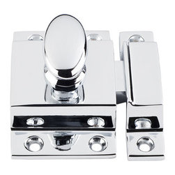 """Top Knobs - Cabinet Latch 2"""" - Polished Chrome - Length - 2"""", Width - 2"""", Projection - 1/2"""""""