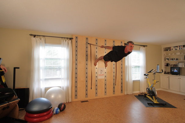 Traditional Home Gym by The Fitness Wall