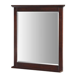 Hembry Creek - Hembry Creek Mirrors Glenayre 36 in. W x 40 in. L Wall Mount Mirror in Dark - Shop for Decor at The Home Depot. This transitionally designed furniture range is timeless and understated. The Americana design offers the perfect accent to any bathroom and offers a full range of vanities mirrors and coordinating linen tower. Color: Dark Espresso.