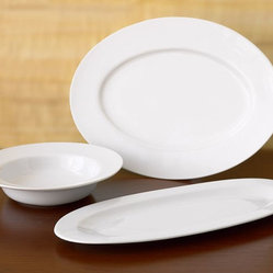 Great White Oval Serving Platters