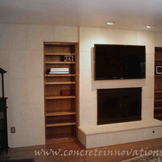 Contemporary Fireplaces by Concrete Innovations LLC