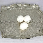 Tray - French Tray. Textured. Nickel Finish. Handmade. For wholesale trade inquiry,please e-mail us info@sfhindia.com