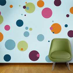 My Wonderful Walls - Polka Dot Circle Wall Stencils for Painting - - 12 individual polka dot stencils