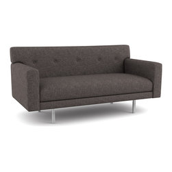 Viesso - Viesso Ason Loveseat (Custom) - This modern sofa offers a very tailored look. With a very shallow frame, it fits well into small spaces. The seat and back are all built-in, so the clean lines of the sofa remain intact at all times. And the buttons, an optional detail, are well suited for formal environments.  Viesso designs and manufactures this piece of modern furniture. All of the sofa from the Viesso line are built one at a time in Los Angeles in 3 weeks. With all the custom options available, they are truly built for you and your space.  A custom sofa that's also an eco chair. Yes, it's that good.