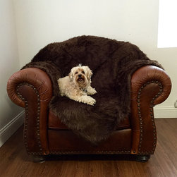 Frontgate - Animals Matter Shag Blanket Dog Bed - High-end luxury faux fur. Protects furniture. Machine wash cold; line dry. Perfect for nuzzling and burrowing, the Animals Matter Shag Blanket is a lavish gift for your pup. Made of luxurious faux fur, this super soft throw will keep your companion warm and your furniture protected.  .  .  . Made in the USA.