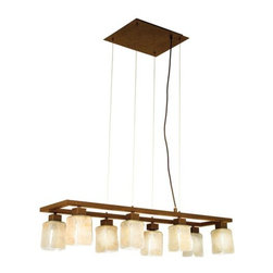 Eglo - Eglo 89146 8 Light Ceiling Fixture from the Norwich Collection - 8 Light Ceiling Fixture from the Norwich CollectionInspirational and Sleek Norwich family collection brings a new element into a timeless design. Norwich collection brings the brilliant features below:Features: