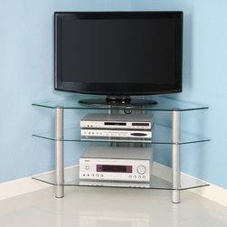 Corner Tv Stand With Fireplace Storage & Organization ...