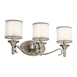 Kichler - Kichler Lacey Bathroom Lighting Fixture in Antique Pewter - Shown in picture: Kichler Bath 3Lt in Antique Pewter