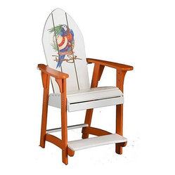 Panama Jack Parrot Balcony Chair with Orange Finish