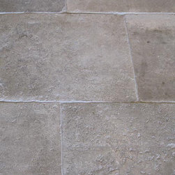 Genuine Antique Stone Tiles and Flagstones. - We are genuine floor nuts-too many people ignore them in their homes when they can deliver a sense of time and place like few other materials or design features. Antique limestone simply screams Mediterranean country style, I'd love to have it underfoot in my kitchen or throughout a country home.