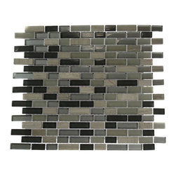 "GlassTileStore - Silver Fog Blend Bricks 1/2"" X 2"" Marble & Glass Tile Brick Pattern - Silver Fog Blend Brick Pattern 1/2"" x 2"" Glass and StoneTile             This striking combination of the light gray slate, dark gray, silver and light gray glass creates a relaxing and stylish back splash to any room. It is great to use for the bathroom, kitchen installation.          Chip Size: 1/2""x2""   Color: Light and Dark Gray and Silver   Material: Glass and Slate   Finish: Polished and Frosted   Sold by the Sheet - each sheet measures 13"" x 12"" (1.08 sq. ft.)   Thickness: 8mm   Please note each lot will vary from the next.            - Glass Tile -"