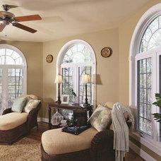 Mediterranean Living Room by Quaker Custom Homes, LLC