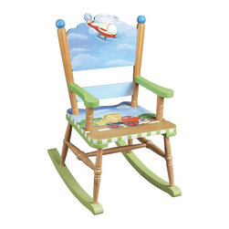 "Teamsons Transportation Kids Rocking Chair - Engulfed in the world of transportation, this rocking chair, will delight your boys, leaving them a full day of play. Dimensions: 16"" x 23"" x 29"""