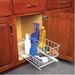Cabinet Accessories - Multi use basket pull out with removable basket.
