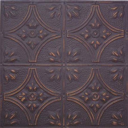 """Chateau Tin Wall Plaque - 24""""x24"""" - Bring this Fleur de Lis tin plaque home to hang in your very own """"castle."""" The pressed tin process results in stunning depth and texture adding to the regality of this unique piece. With alluring Fleur di Lis in each corner surrounding the center crossed pattern, this plaque will add a touch of sophistication wherever you choose to display it."""
