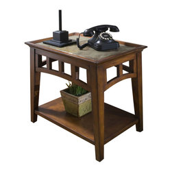 Riverside Furniture - Riverside Andorra Side Table in Eden Burnished Cherry - Riverside Furniture - End Tables - 5309C - The Arkansas River Valley is home of majestic forests ruggedly beautiful mountains gurgling brooks and swiftly flowing rivers. It is also the home of Riverside Furniture Corporation. But like they would with any old friend most folks refer to us just by our first name. Riverside has been growing with America for more than half a century now and since then Riverside has been a name three generations of Americans who have furnished their homes and offices with our wide range of furniture products. We want the Riverside name to be trusted for quality products that are an affordable value. It's just that simple.