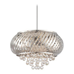 "Kovacs - Kovacs P1314-077-L 1 Light 13.5"" Height Full Sized LED Pendant LED Meta - Single Light 13.5"" Height Full Sized LED Pendant from the LED Metal and Crystal CollectionFeatures:"