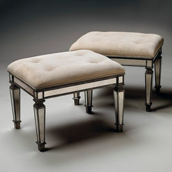 Mirrored Ottoman - Obviously this should go in your dressing room! Don't have a dressing room, you say? How about next to your tub? A girl needs somewhere to put her feet when it's pedicure time.