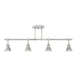 Quoizel - Quoizel QTR10054IS Contemporary Fixed Ceiling Track Light - This metal shaded fixture is an elegant nod to the past. The classic Americana styling adds a nostalgic flair to your home. It is available in two fabulous finishes.