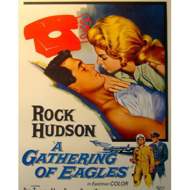 Consigned 1965 Original American Film Poster, A Gathering Of Eagles - A Gathering of Eagles is a 1963 movie about the cold war and the pressures of command. The plot is patterned after the film Twelve O'Clock High, which producer-screenwriter Sy Bartlett also wrote, with elements also mirroring Above and Beyond, a film written by his collaborator, Beirne lay Jr.