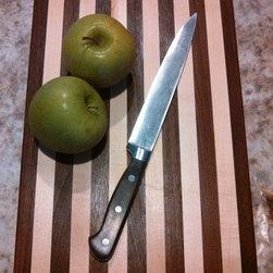 """Maple - Walnut / Medium Cutting Board - Handmade Cutting Board shown in Maple - Walnut / Medium 10 1/4"""" x 14"""" x 1"""" for $30 + Shipping."""