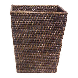 Eco Displayware - Small Waste Rattan Basket (Natural) - Color: NaturalGreat for closet, bath, pantry, office or toy and game storage. Earth friendly. Pictured in Antique Black. 10 in. L x 8 in. W x 12 in. H (3.49 lbs.)These natural colored baskets add warmth and charm and keep you organized.