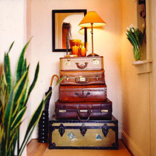 Eclectic  Stacked Suitcases: Secret Storage | Apartment Therapy New York
