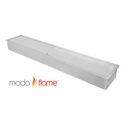 "Moda Flame - Moda Flame 39"" Indoor Outdoor Bio Ethanol Fireplace Burner Insert - This Moda Flame Ethanol Burner Insert is designed with style and functionality, whether you're looking to add a fire outdoors or indoors this 39"" ethanol burner will occasion to life all year round."
